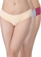 Clovia Women's Bikini Multicolor Panty(Pack of 3)