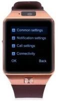 Wonder World ™ Bluetooth Support SIM Card Phone Camera GSM/TF Men Wrist Gold Smartwatch(Black Strap Free Size)