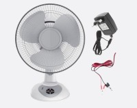 View Montex AC/DC 12'' Solar 3 Blade Table Fan(White & Gray) Home Appliances Price Online(Montex)