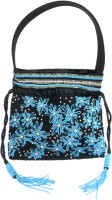 KAWAII Multi Floral Beaded Bag Wristlet(Black)