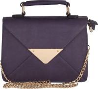 Pink Rose Women Purple PU Sling Bag