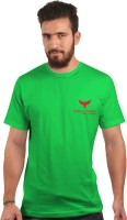 Falcon Taylor Solid Men's Round Neck Light Green T-Shirt