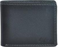 Gentleman Men Black Genuine Leather Wallet(6 Card Slots)