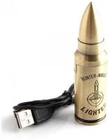 View Pia International BULLET GADGET Electronic HUNTER USB Cigarette Lighter(Gold) Laptop Accessories Price Online(Pia International)
