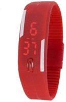 LEBENSZEIT LED RUBBER MAGNET RED Digital Watch Watch  - For Boys & Girls