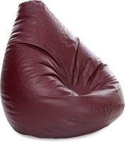 View Style Homez XXXL SAC Teardrop Bean Bag  With Bean Filling(Maroon) Furniture (Style Homez)