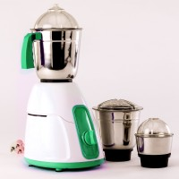 BMS Lifestyle 3 Stainless Steel Jars 550 W Mixer Grinder(Green, 3 Jars)