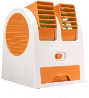 View Billionbag Mini Smart USB Fan(Orange, White) Laptop Accessories Price Online(BillionBAG)