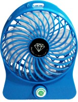 View Kumar Retail Rechargeable Table Fan Portable Rechargeable USB Mini B_01 USB Fan(Blue) Laptop Accessories Price Online(Kumar Retail)