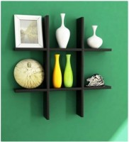 A.S Wood MDF Wall Shelf(Number of Shelves - 6)