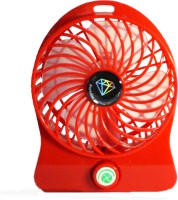 View Kumar Retail Rechargeable Table Fan With Power Bank Portable Rechargeable USB MINI_R01 USB Fan(Red) Laptop Accessories Price Online(Kumar Retail)