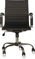 View Silver Arrow Office Chair Leatherette Office Arm Chair(Black) Furniture (Silver Arrow)