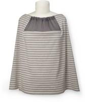 Skip Hop Grab & Go Hide & Chic Nursing Scarf Grey Stripe Feeding Cloak(Grey)