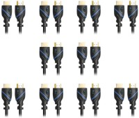 C&E  TV-out Cable C&E High Speed HDMI Cable 3 Feet, Supports Ethernet, 3D and Audio Return, UltraHD 4K Ready Latest Specification Cable, 10 Pack(Black, For TV, 0.91 m)
