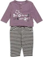 FS MINI KLUB Kids Nightwear Girls Printed Cotton(Multicolor Pack of 2)