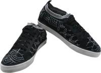 HALO NATION Mens Canvas Black Designer Shoes Sneakers(Black)