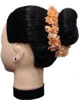 Majik Bridal Accessories For Women Bun Making Gajra Hair Band(Beige)