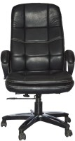 View Sogno Leatherette Office Arm Chair(Black) Furniture (Sogno)