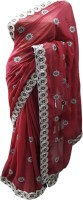 Stylish Sarees Self Design Fashion Synthetic Georgette Saree(Magenta)