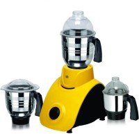 Viaan 750W Regular Mixer Grinder with 3 Stainless Steel Jars 750 W Mixer Grinder(Yellow, 3 Jars)