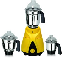 Viaan 750W Ranger Mixer Grinder with 3 Stainless Steel Jars 750 W Mixer Grinder(Yellow, Black, 3 Jars)