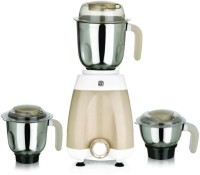 Viaan Regular 550W Mixer Grinder with 3 Stainless Steel Jars 550 W Mixer Grinder(Cream, 3 Jars)