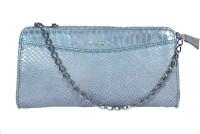 L'ANGE Women Blue Genuine Leather Sling Bag