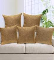 STITCHNEST Plain Cushions Cover(Pack of 5, 16 cm*16 cm, Beige)