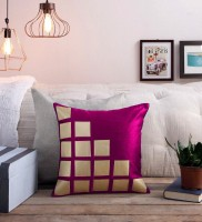 STITCHNEST Abstract Cushions Cover(Pack of 5, 16 cm*16 cm, Purple, Gold)