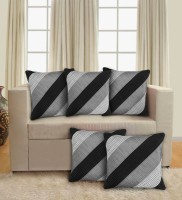 STITCHNEST Abstract Cushions Cover(Pack of 5, 40 cm*40 cm, Black)