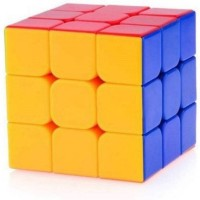 Rubik's Challenge Stickerless Magic Cube 3x3x3 High Speed(1 Pieces)