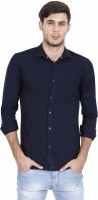 Rope Men's Solid Casual Blue Shirt
