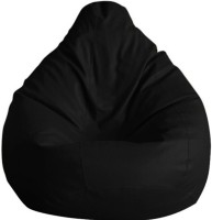 View ShopSpree XXXL Bean Bag Cover  (Without Beans)(Black) Furniture (ShopSpree)