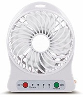 View Homepro Portable, Battery Operated Powerful Rechargeable Hi - Speed-Zoom USB Fan- White FAN-005 USB Fan(White) Laptop Accessories Price Online(Homepro)