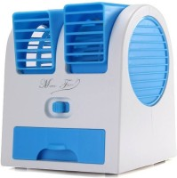 View Max MX11 Mini Portable Fan Cooling Bladeless Air Conditioner with FRAGRANCE Water Cooler Multi color USB Fan(White Blue) Laptop Accessories Price Online(Max)