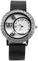 ReniSales BLACK DIAMOND STUDDED BUTTERFLY SHAPE DIAL LATEST FASHION Watch  - For Girls