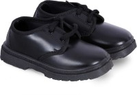 6Four shoes Boys Lace Formal Boots(Black)