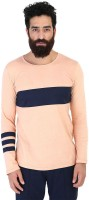 Mr Button Solid Men's Round Neck Orange T-Shirt thumbnail