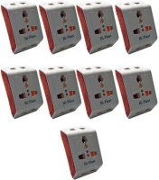 View Hi-Plast 3 Pin Universal Multiplug Socket Connector -9pcs Worldwide Adaptor(White) Laptop Accessories Price Online(Hi-Plast)