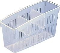 Italish Refrigerator Storage Plastic Fruit & Vegetable Basket(White)