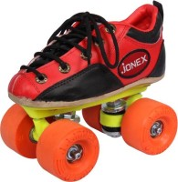 JJ Jonex NICE ROLLO SHOES Quad Roller Skates - Size 3 UK(Black, Red)