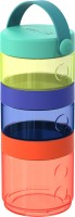 Skip Hop Grab & Go Complete Mealtime Kit - Graphite/Aqua - Polyester, Plastic(Multicolor)
