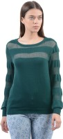 Pepe Jeans Solid Women's Round Neck Green T-Shirt