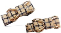 Squnibee Check Bow Hair Clip(Beige) - Price 145 51 % Off