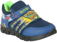 Action Shoes Boys & Girls Velcro Running Shoes(Dark Blue)