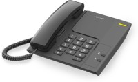 View Alcatel T-26 Corded Landline Phone with Answering Machine(Black) Home Appliances Price Online(Alcatel)