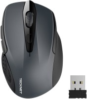 View Tecknet M003 pro wireless mouse Wireless Optical  Gaming Mouse(2.4GHz Wireless, Grey) Laptop Accessories Price Online(Tecknet)