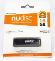 NUDISC PD16FV 16 GB Pen Drive(Black)