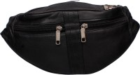 Modish Designs Fashion Leather Black Waist Bag Waist Bag(Black)