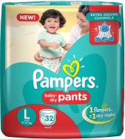 Pampers Pampers Pants Diapers Large - L(32 Pieces)